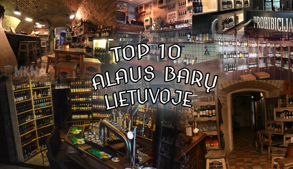 top10 alaus barų lietuvoje